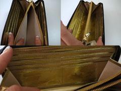 SATOLI(さとり)松阪牛レザー財布 チャンピオン牛 2018versionのカードフォルダー、コイン入れ、中画像